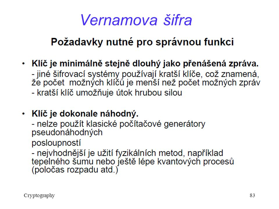 Cryptography83 Vernamova šifra