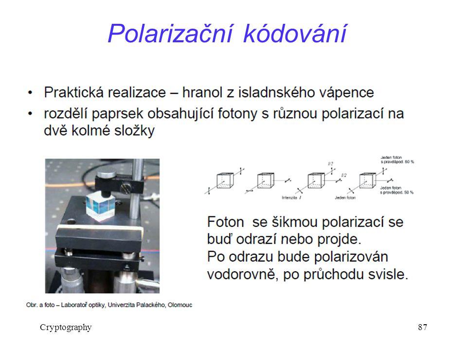 Cryptography87 Polarizační kódování