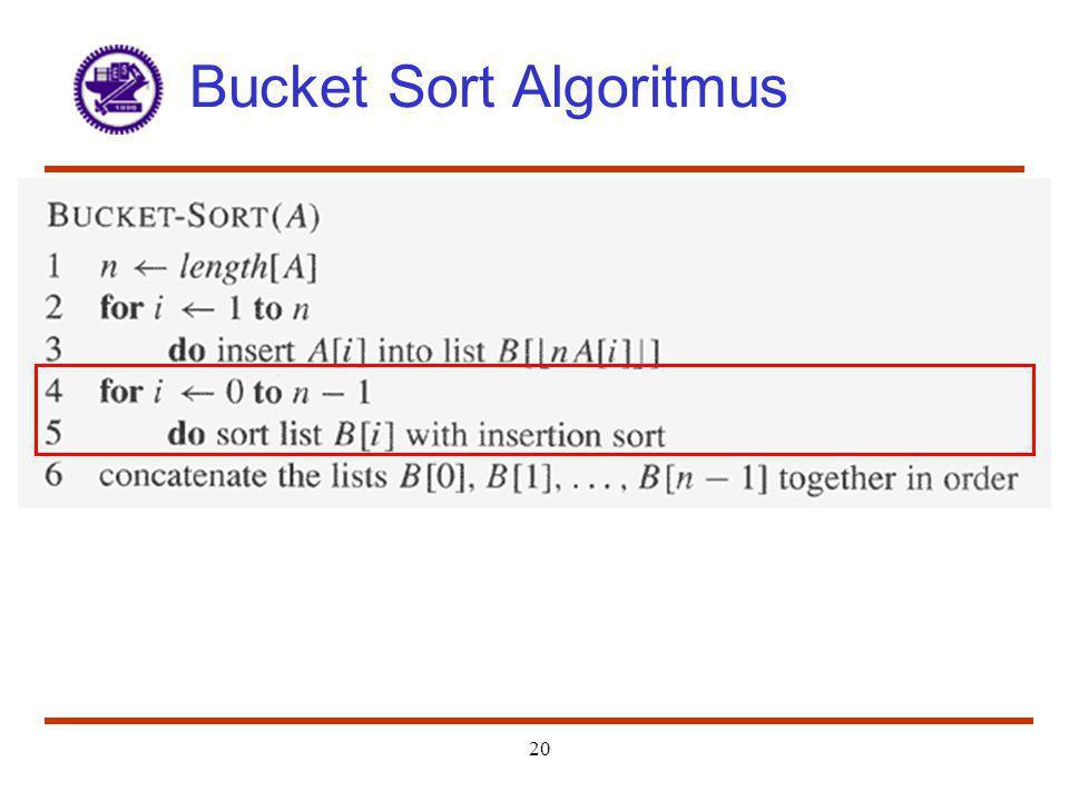 20 Bucket Sort Algoritmus