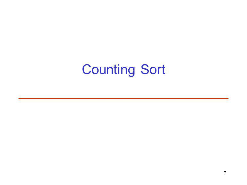 7 Counting Sort