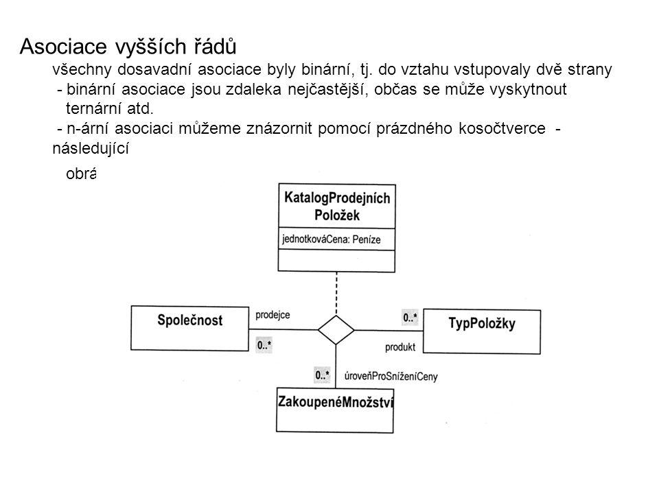 Asociace vyšších řádů všechny dosavadní asociace byly binární, tj.
