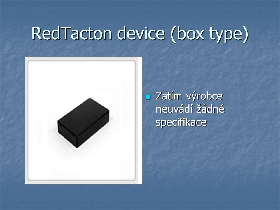 RedTacton device (box type) Zatím výrobce neuvádí žádné specifikace Zatím výrobce neuvádí žádné specifikace