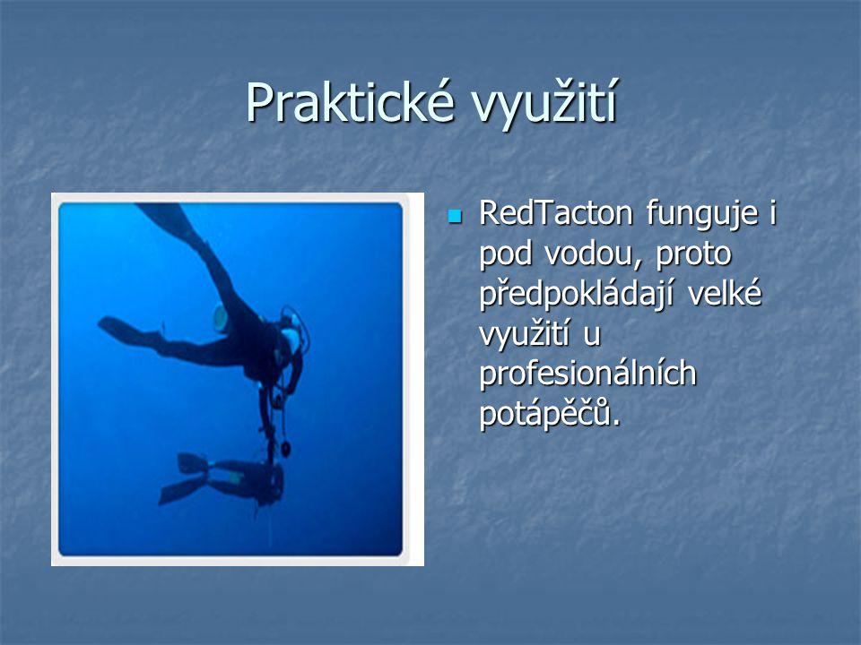Praktické využití RedTacton funguje i pod vodou, proto předpokládají velké využití u profesionálních potápěčů.