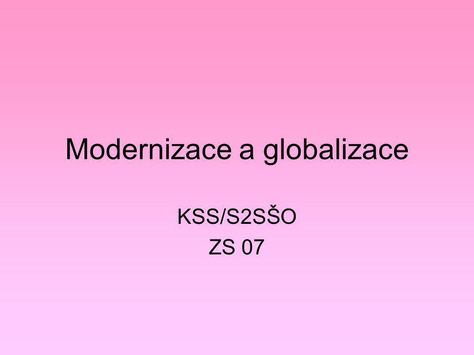 Globální kultura Globální kulturní vývoj – tři směry: 1)homogenizace a racionální standardizace nadnárodních firem (McDonalds, Nike, Starbucks) 2)odpor vůči globál.