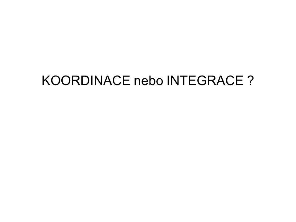 KOORDINACE nebo INTEGRACE ?