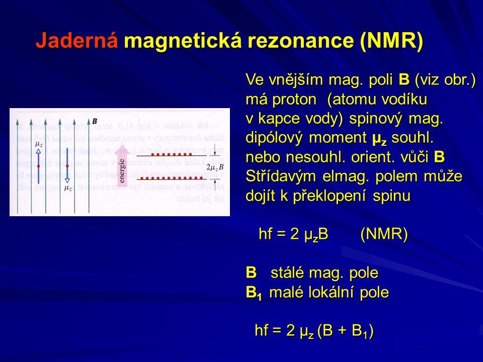 Jaderná magnetická rezonance (NMR) Ve vnějším mag.