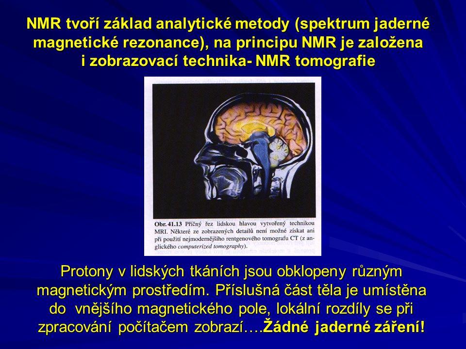 Protony v lidských tkáních jsou obklopeny různým magnetickým prostředím.