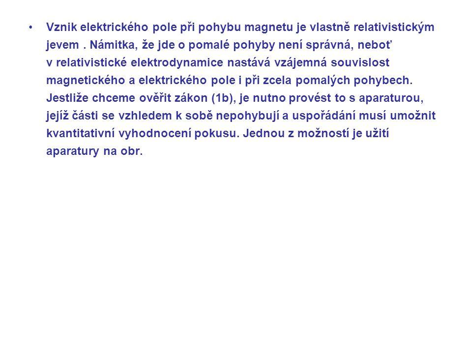 Vznik elektrického pole při pohybu magnetu je vlastně relativistickým jevem.