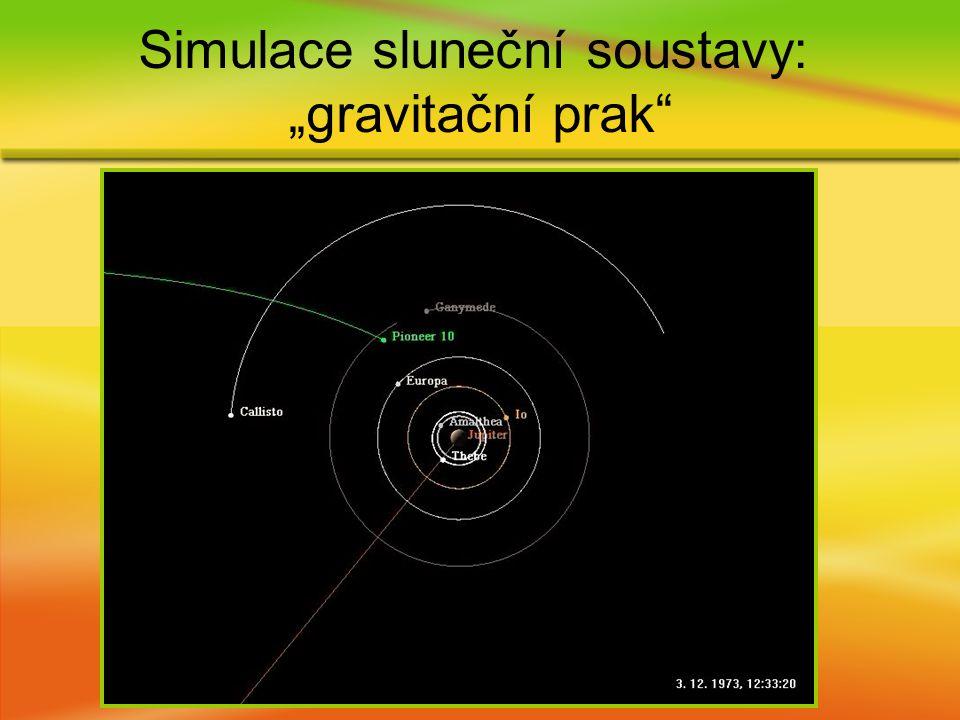 """Simulace sluneční soustavy: """"gravitační prak"""