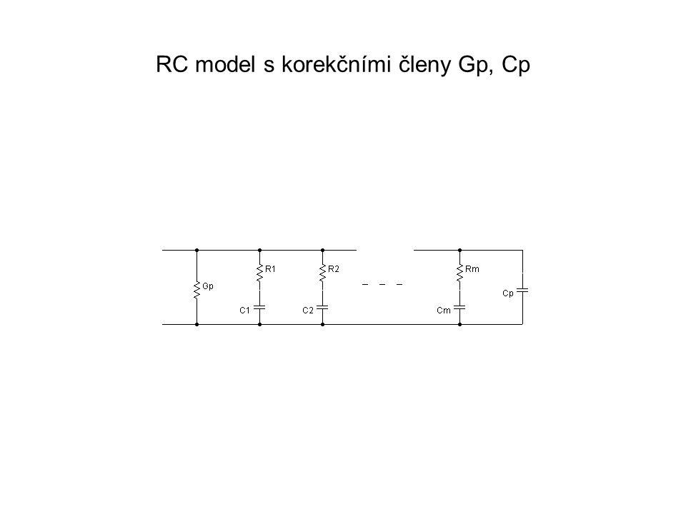 RC model s korekčními členy Gp, Cp