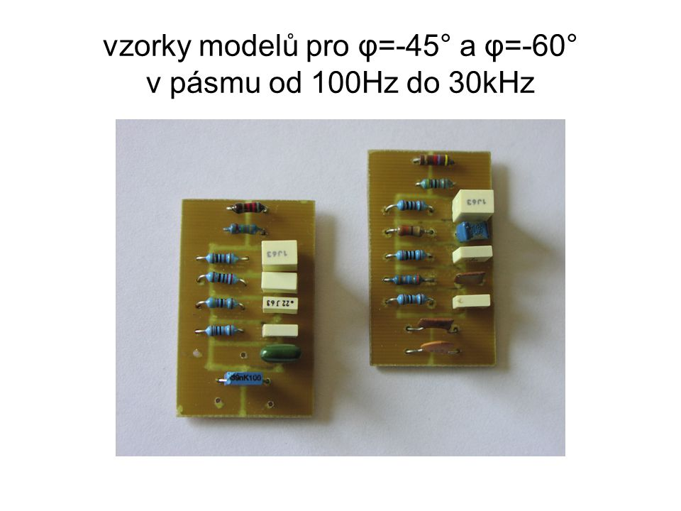 vzorky modelů pro φ=-45° a φ=-60° v pásmu od 100Hz do 30kHz