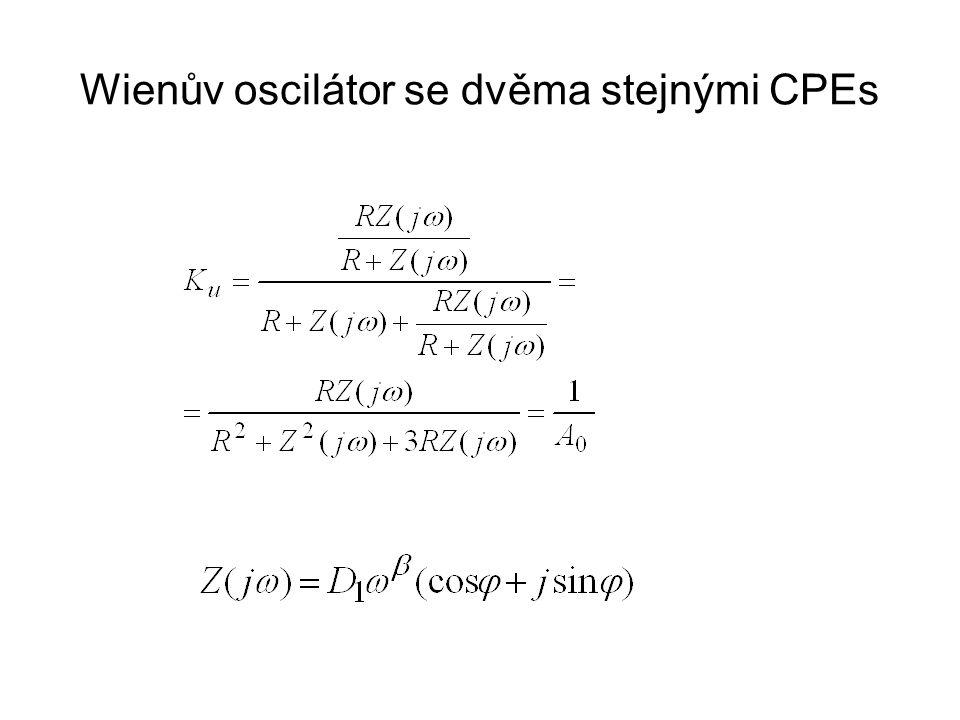 Wienův oscilátor se dvěma stejnými CPEs