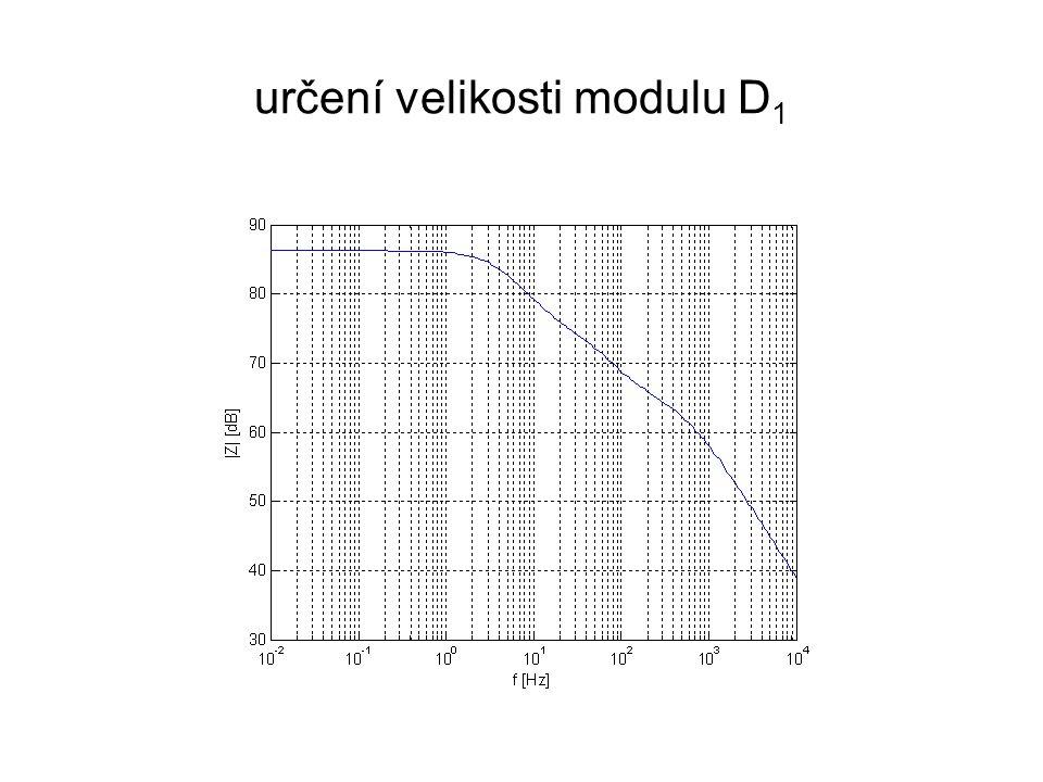 určení velikosti modulu D 1