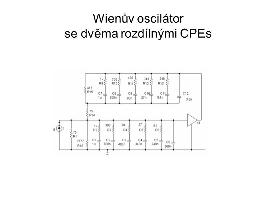 Wienův oscilátor se dvěma rozdílnými CPEs