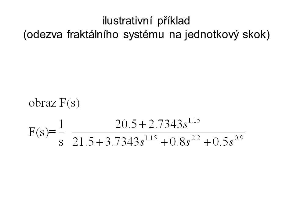 ilustrativní příklad (odezva fraktálního systému na jednotkový skok)