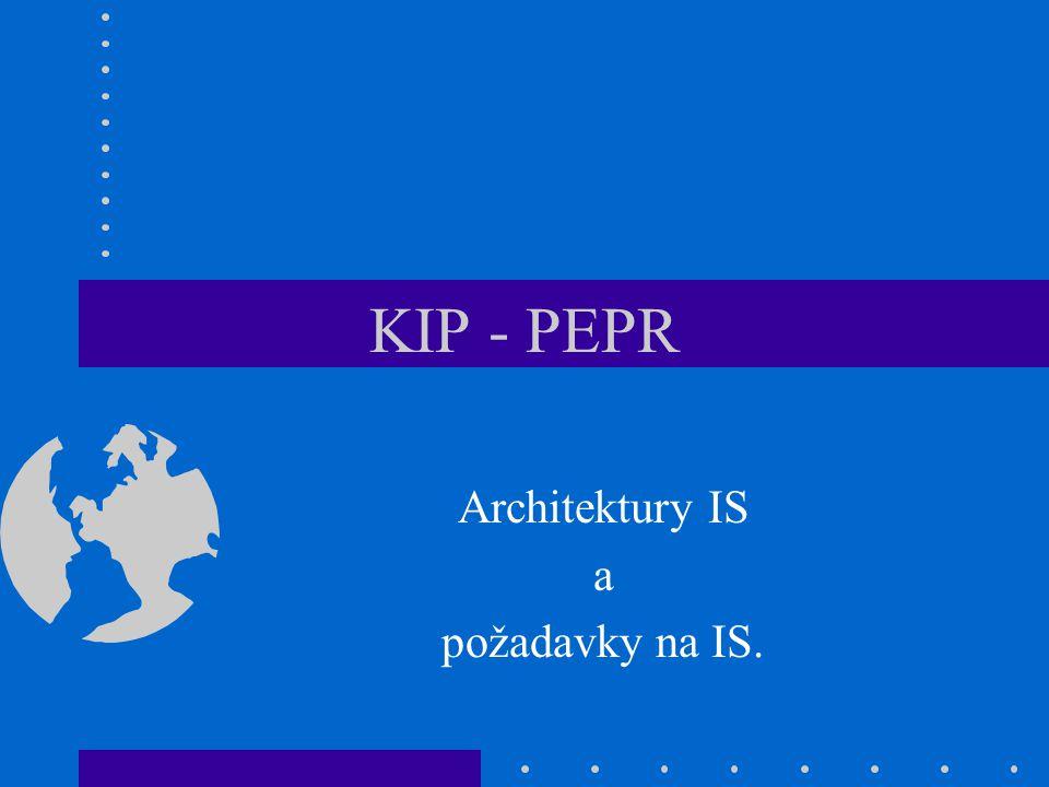 KIP - PEPR Architektury IS a požadavky na IS.