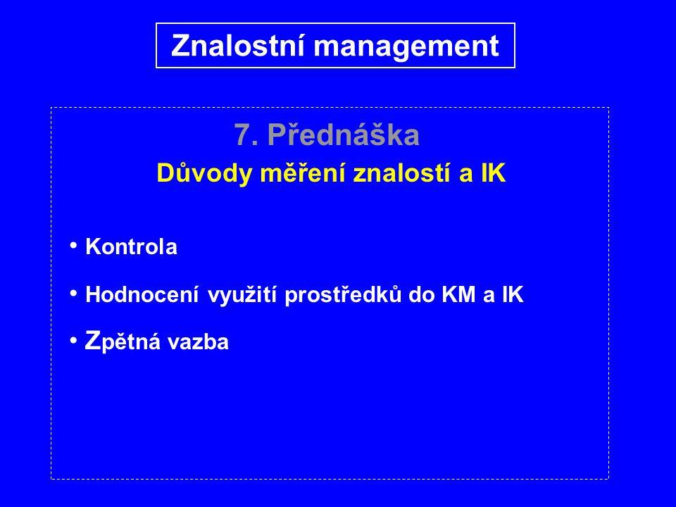 7. Přednáška M etody měření znalostí a IK Pavoučí graf Znalostní management