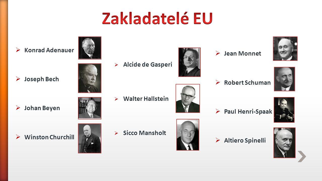 Smlouva o založení Evropského společenství uhlí a oceli  Podepsána: 18.