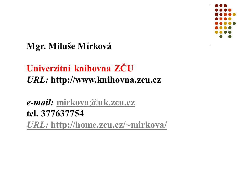 Bibliografické citace příklady: bibliografická citace článku z elektronického časopisu Houšková, Zlata.