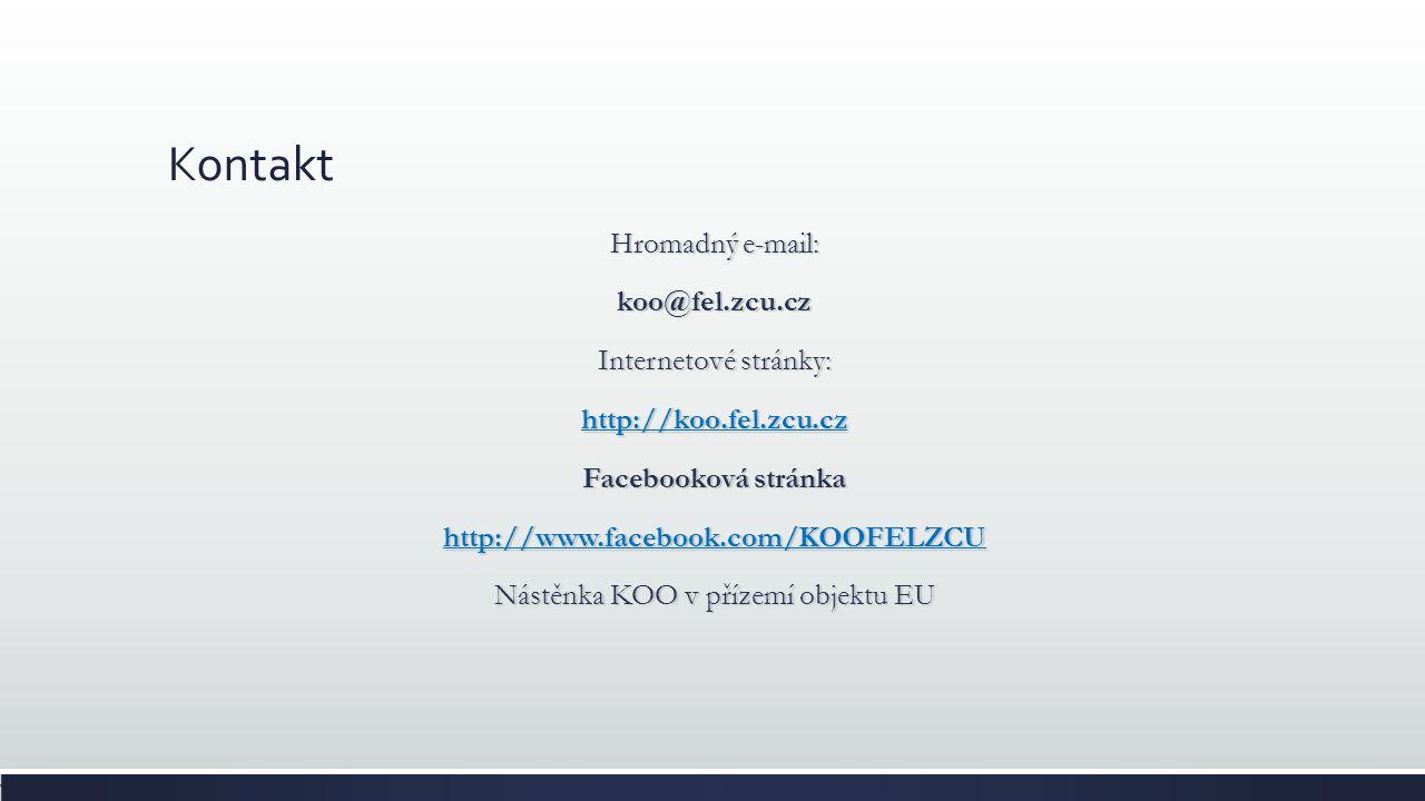 Studijní oddělení Studijní referentka: Monika Živná zivna@fel.zcu.cz EU 207 Úřední hodiny: Pondělí, Středa a Pátek 8.00 - 11.30, 12.30 - 14.15