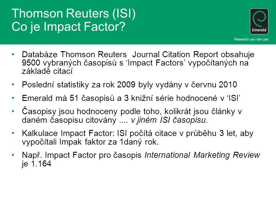 Thomson Reuters Co to pro Vás znamená.A na co dalšího byste se také měli zaměřit.