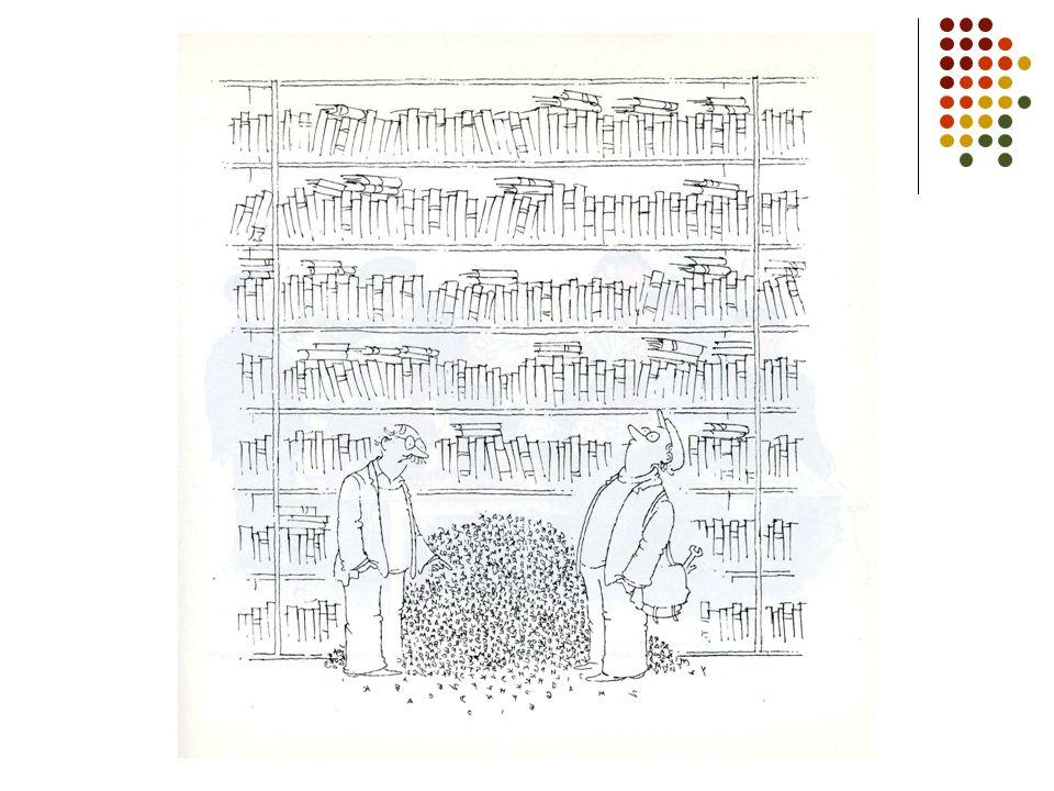 Bibliografická činnost základní oblasti bibliografické činnosti: 1.zjišťování bibliografických informací a jejich vyhodnocování 2.bibliografický popis 3.analyticko-syntetické zpracování bibliografických informací 4.sestavování bibliografických prací a bází bibliografických údajů 5.pořádání bibliografických informací 6.šíření a propagace bibliografických informací včetně výchovy k bibliografické gramotnosti