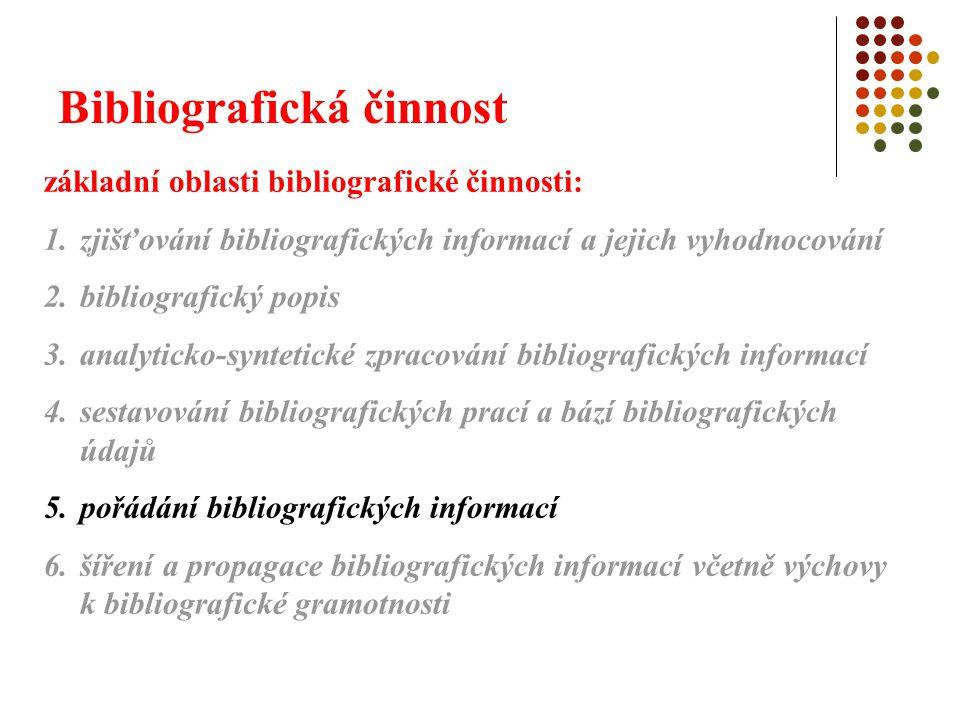 Bibliografická činnost 5.