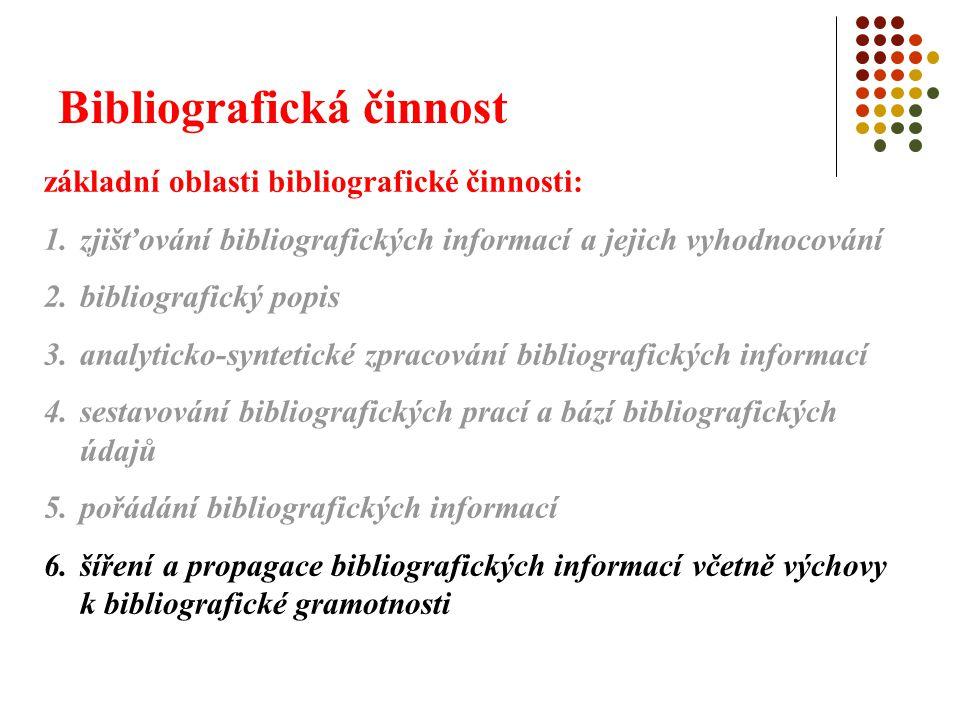 Bibliografická činnost 6.