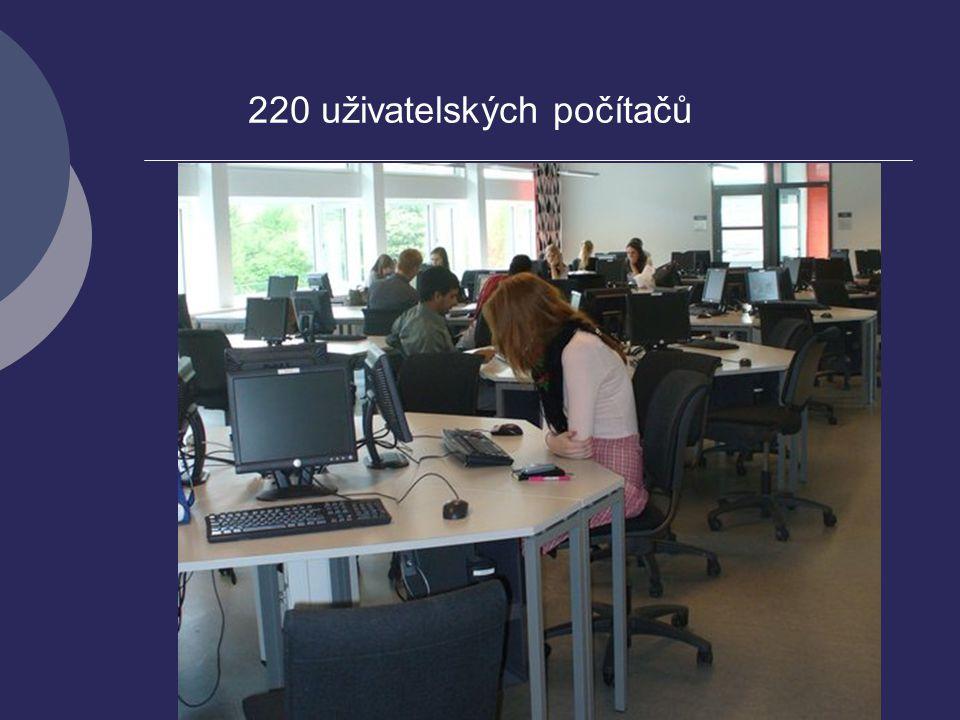 220 uživatelských počítačů