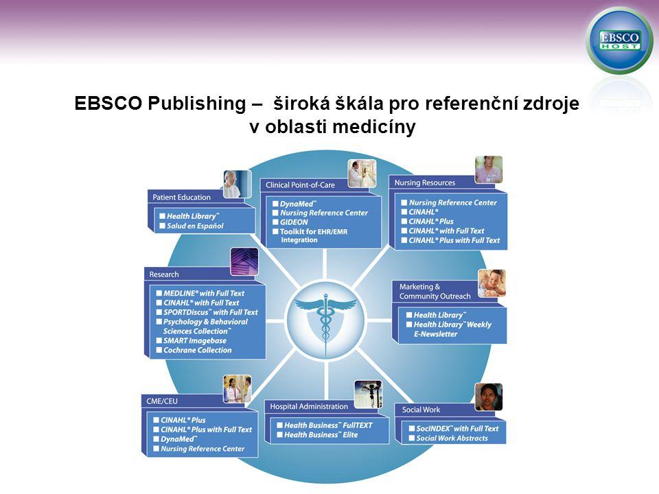 EBSCO Publishing – široká škála pro referenční zdroje v oblasti medicíny