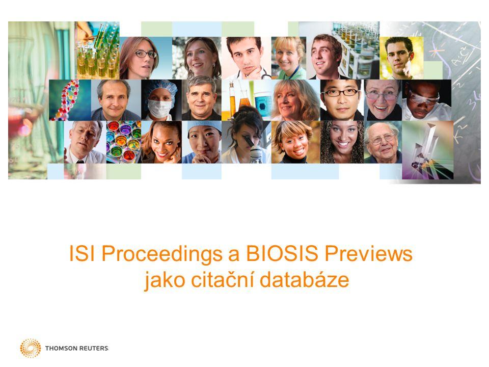 ISI Proceedings a BIOSIS Previews jako citační databáze