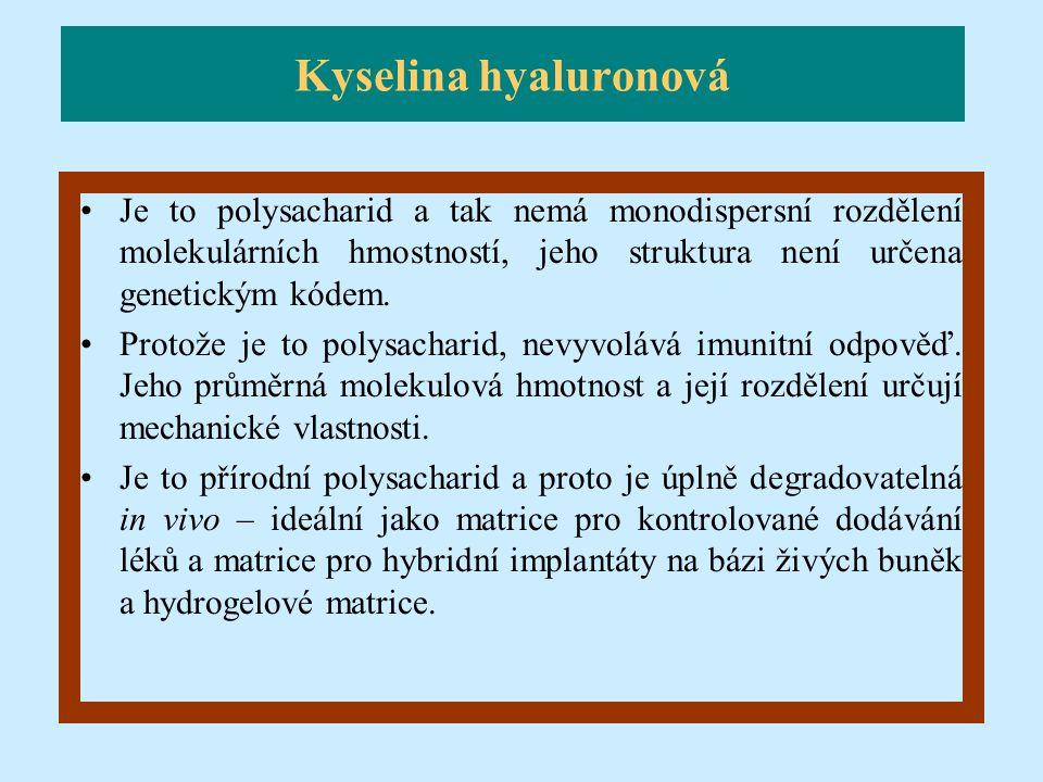 Je to polysacharid a tak nemá monodispersní rozdělení molekulárních hmostností, jeho struktura není určena genetickým kódem. Protože je to polysachari