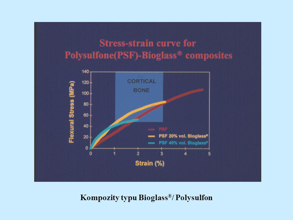 Kompozity typu Bioglass ® / Polysulfon