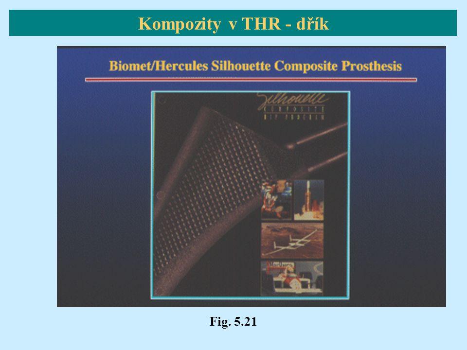 Fig. 5.21 Kompozity v THR - dřík
