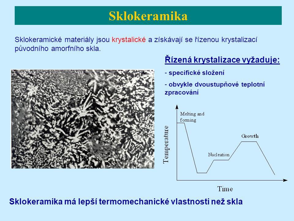 Sklokeramické materiály jsou krystalické a získávají se řízenou krystalizací původního amorfního skla.