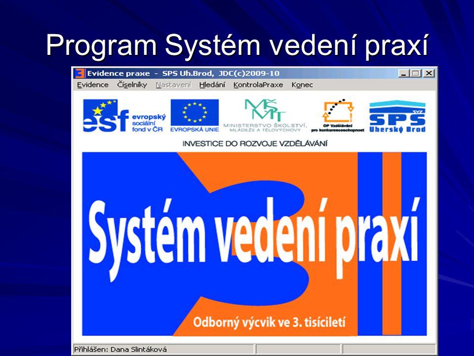 Program Systém vedení praxí