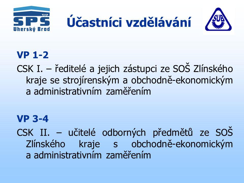 Účastníci vzdělávání VP 1-2 CSK I.