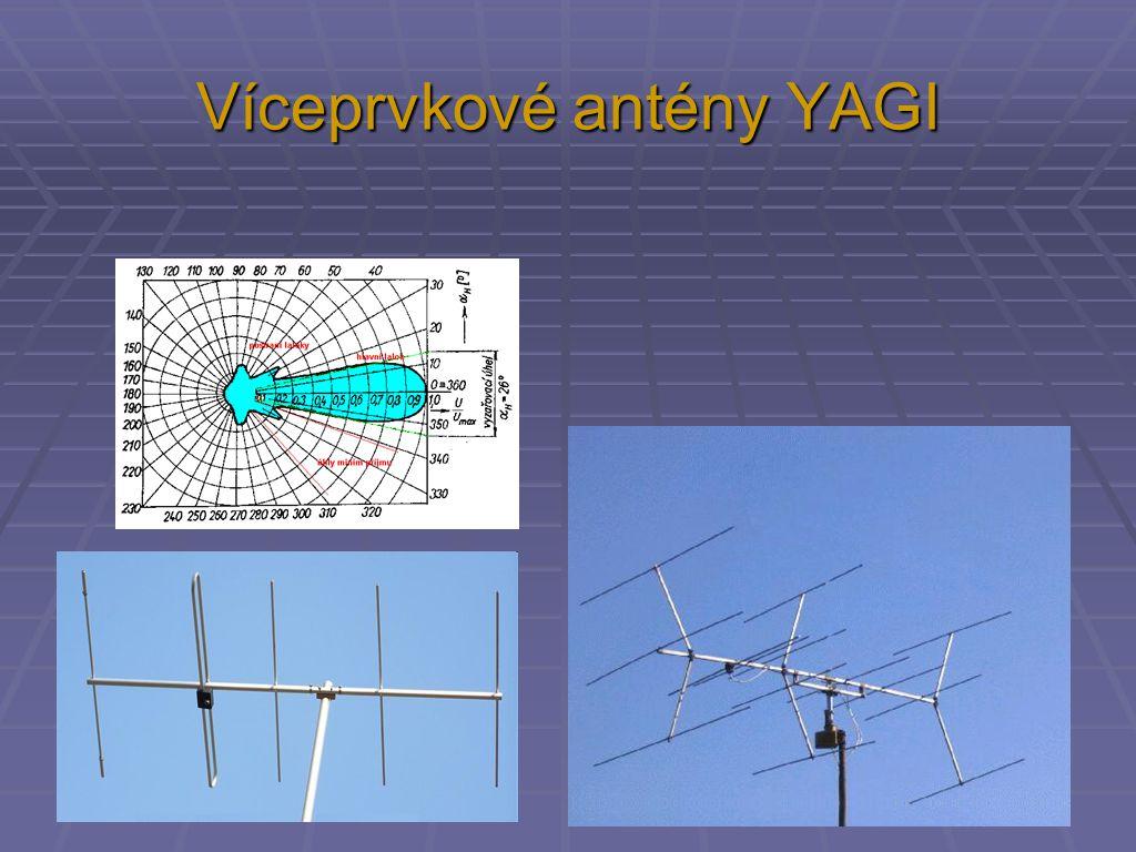 Víceprvkové antény YAGI