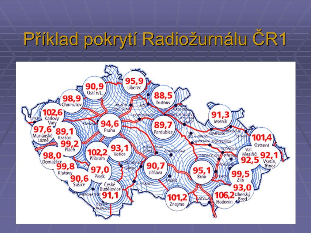 Příklad pokrytí Radiožurnálu ČR1