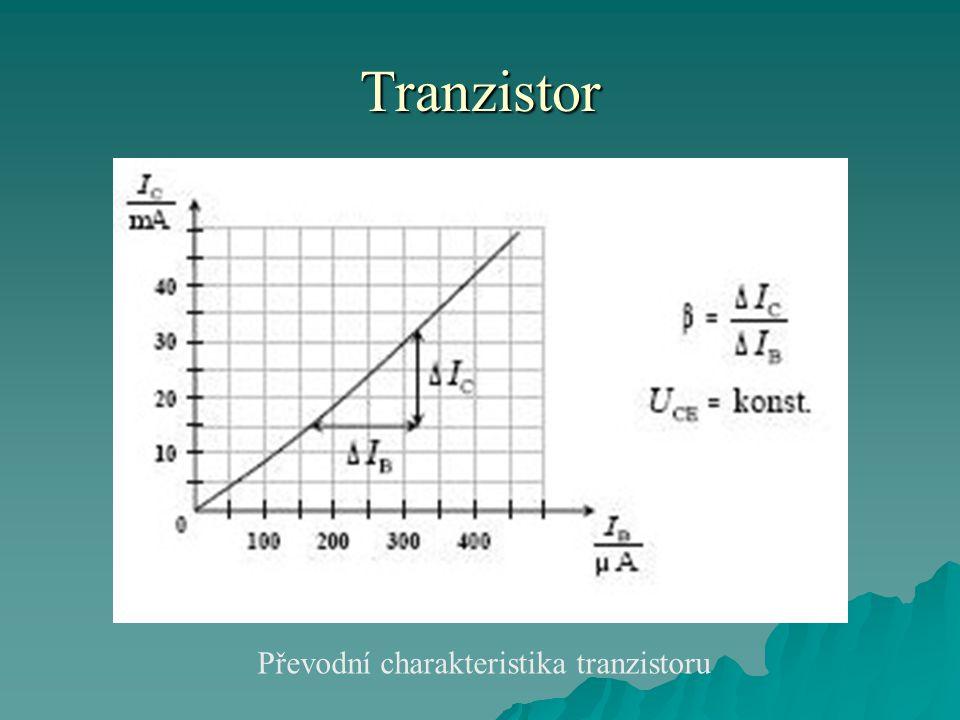 Tranzistor Převodní charakteristika tranzistoru