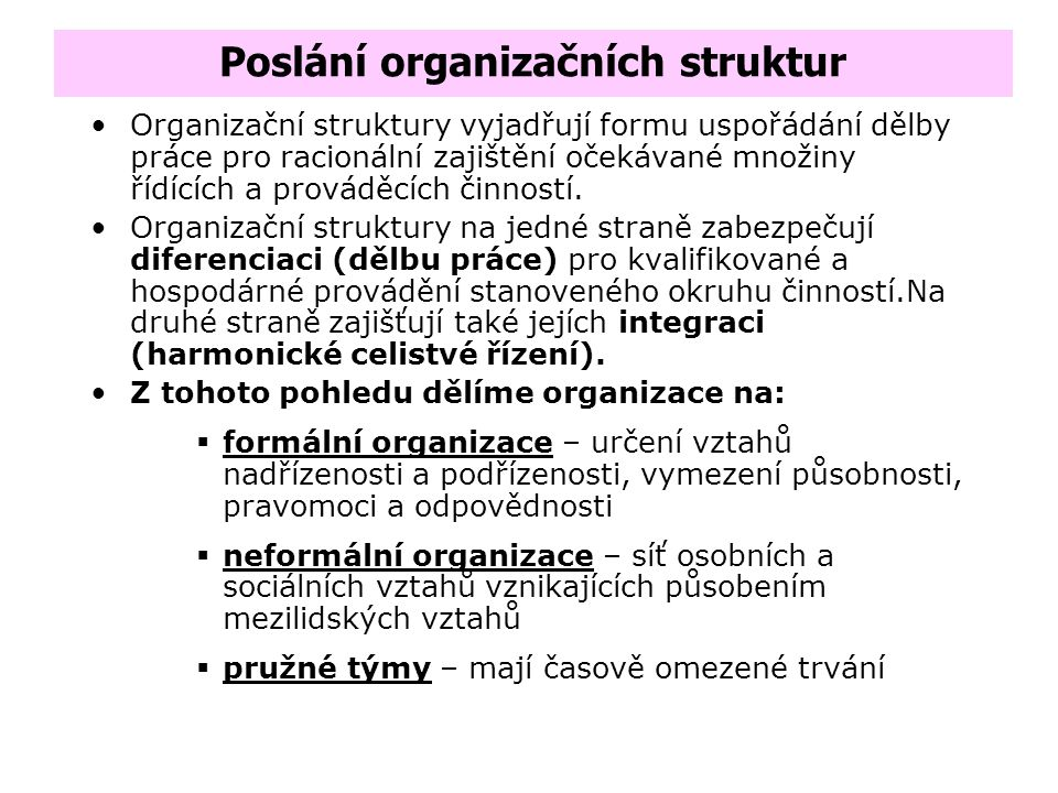 Delegování - Určení kompetencí - Delegováním rozumíme proces přenosu určitých činností z řídicího pracovníka na pracovníka řízeného, a to při současné