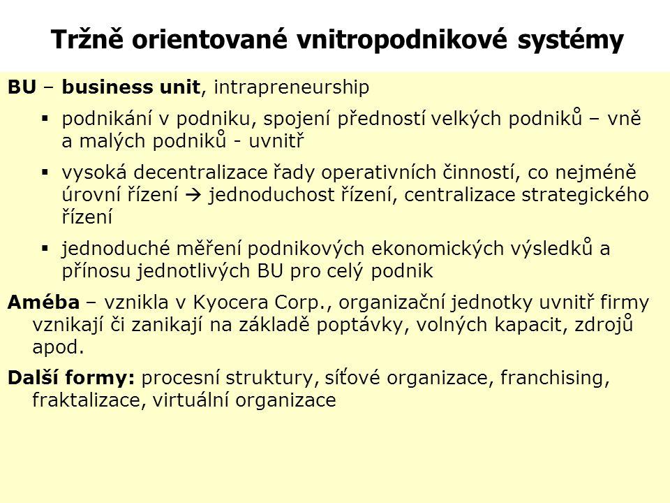 Hybridní struktura V rámci potřeby podniku dochází často ke kombinaci funkční a divizní struktury. Firma obvykle disponuje divizemi, které mají svá vl