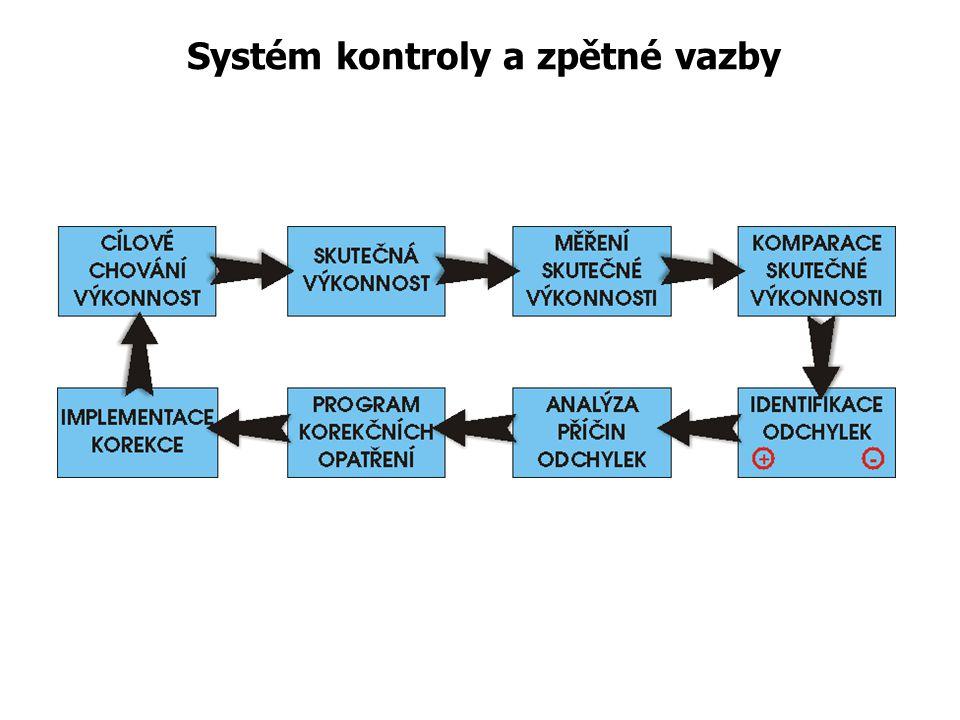 Systém kontrolní činnosti Preventivní opatření Předběžná kontrola Řízená realita Konečná kontrola Průběžná kontrola Při vlastním vyhodnocování kontrol