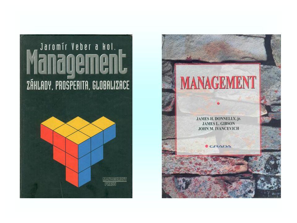 LITERATURA PŘEDMĚTU ZÁKLADNÍ –VEBER, J. a kol.: Management. Základy, prosperita, globalizace (str. 31 – 312, 630 – 643). Management Press, 2000, ISBN