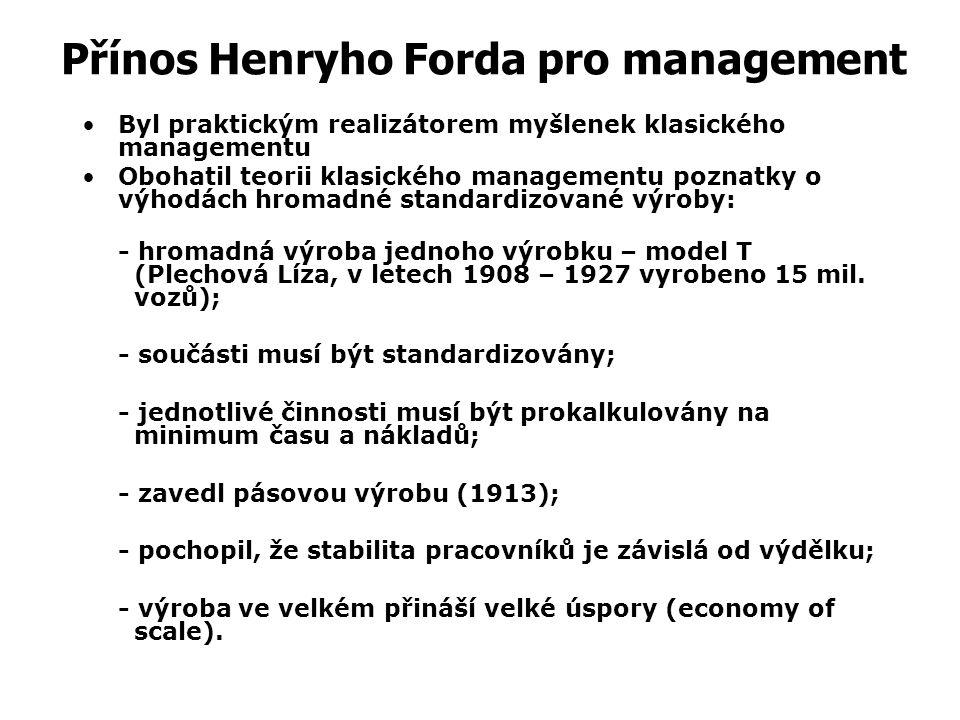 """Henry Ford (1863 -1947) a jeho """"plechová Líza"""""""