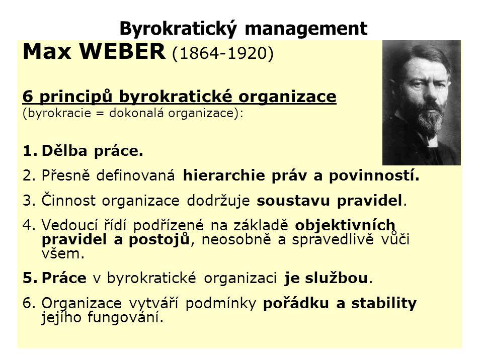 Henri Fayol určil pět základních manažerských aktivit: předvídání (plánování), organizování, přikazování, koordinace, kontrola; vymezil 14 principů ma