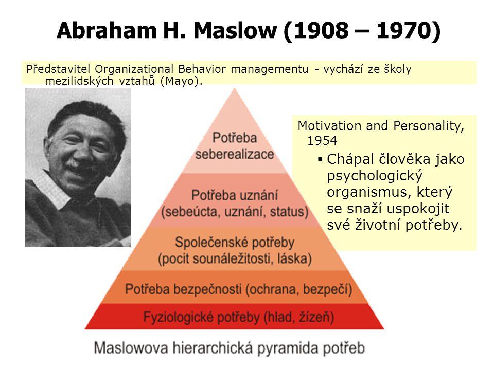 """Lilian Gilbreth (1878-1972) """"The Psychology of Management"""" Je považována za průkopníka v oblasti psychologie řídící práce. Uplatnění psychologie při v"""