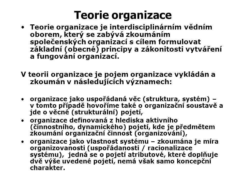 Organizování – cílevědomá činnost, jejímž konečným cílem je uspořádat prvky v systému, jejich aktivity, koordinaci, kontrolu tak, aby přispěly maximál