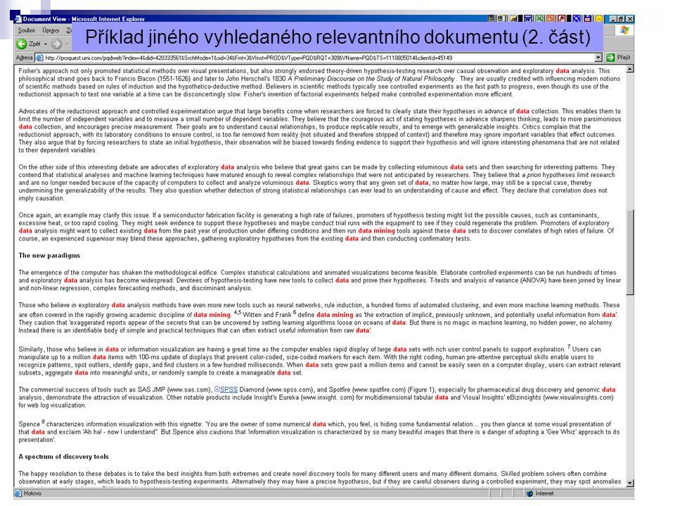 11 Příklad jiného vyhledaného relevantního dokumentu (2. část)