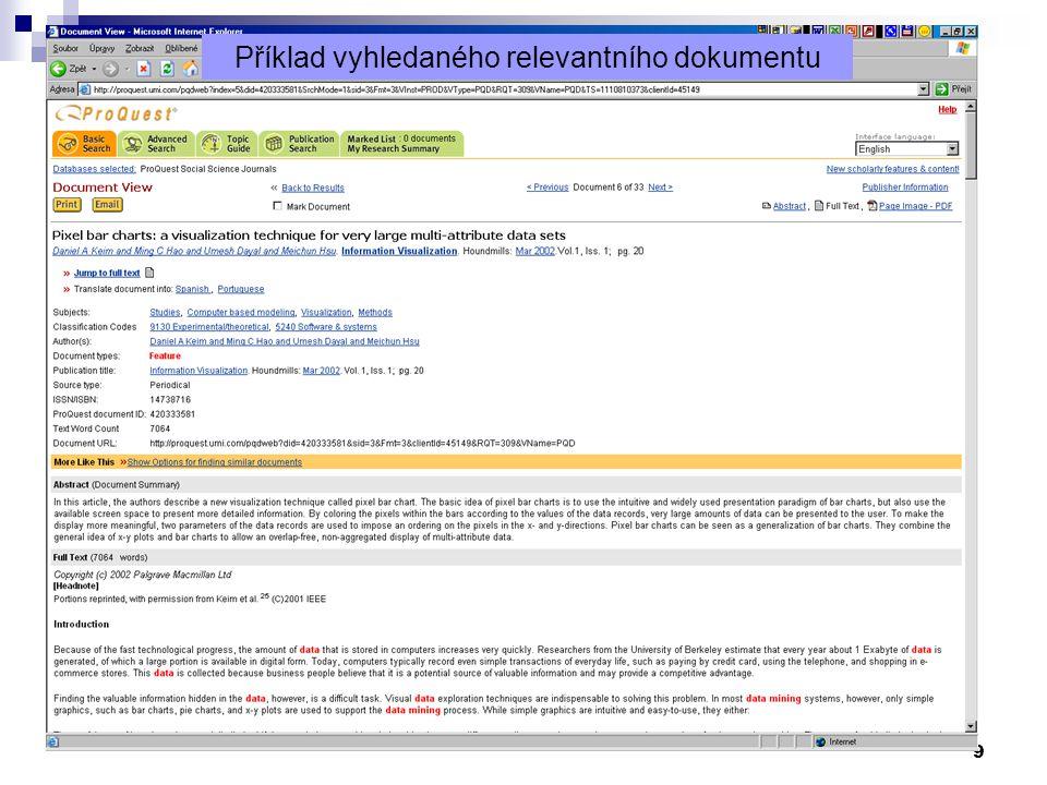 10 Příklad jiného vyhledaného relevantního dokumentu (1. část)